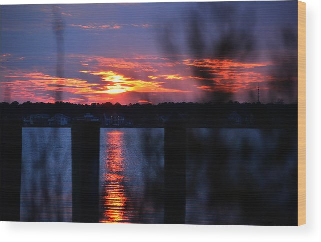 St Marten River Wood Print featuring the photograph St. Marten River Sunset by Bill Swartwout Fine Art Photography