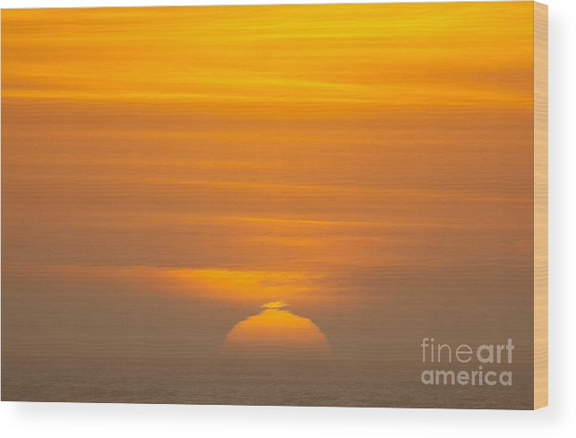 Sunsets Wood Print featuring the photograph Sunset At Samoa 1.7117 by Stephen Parker