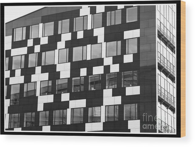 The Building Wood Print featuring the photograph The Buildilng by Victoria Harrington