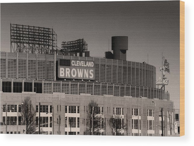 Cleveland Wood Print featuring the photograph The Hometeams by Kenneth Krolikowski