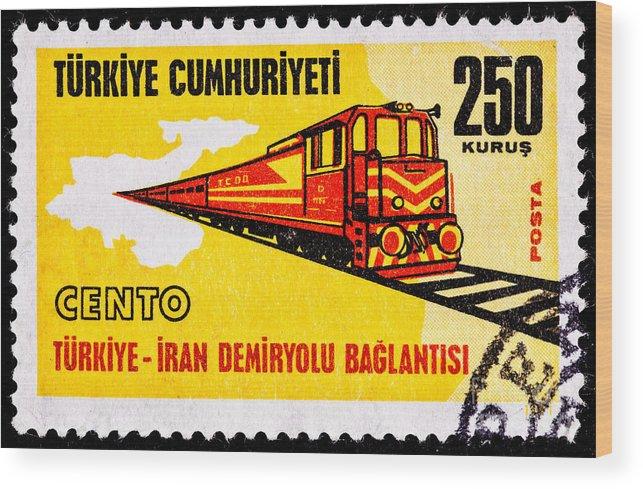 Line Wood Print featuring the photograph Turkey Iran Railroad by Jim Pruitt