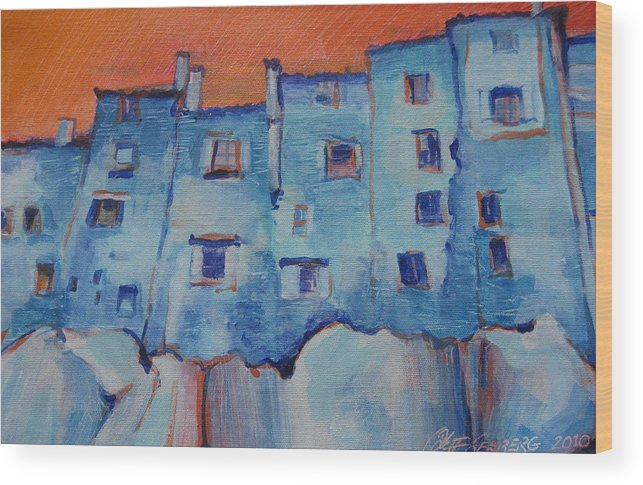 Italy. Italia Wood Print featuring the painting Vitorchiano Bizzaro by Jeff Seaberg