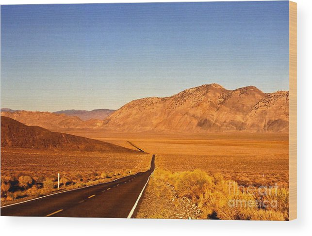 Open Road Wood Print featuring the photograph Way Open Road by Byron Varvarigos
