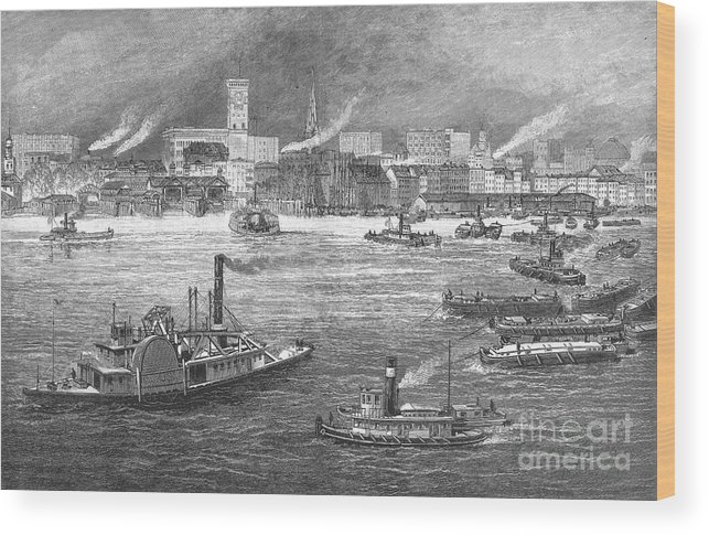 1884 Wood Print featuring the photograph Nyc: The Battery, 1884 by Granger