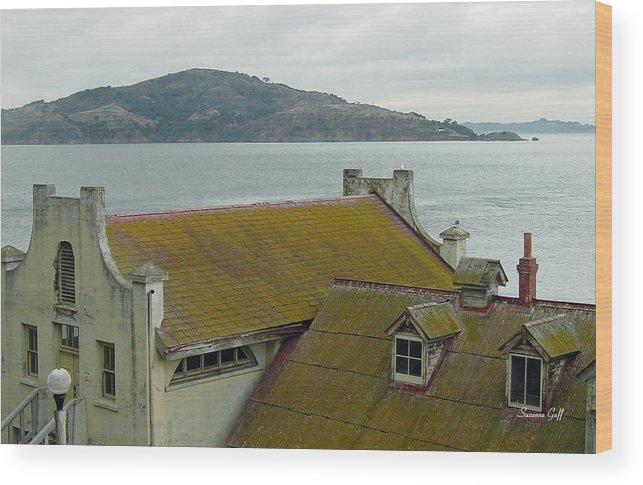 Alcatraz Wood Print featuring the photograph View From Alcatraz II by Suzanne Gaff