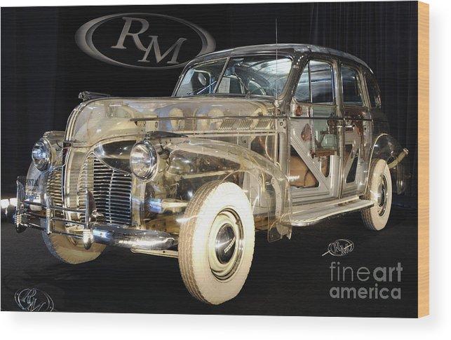 Car Wood Print featuring the photograph 1940 Pontiac Transparent by Ronald Grogan