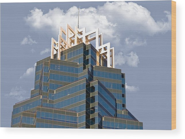 Architecture Wood Print featuring the photograph Architectural Details by Susan Leggett