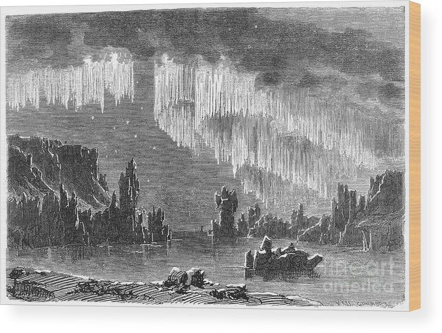 1868 Wood Print featuring the photograph Aurora Borealis, 1868 by Granger