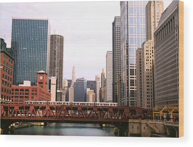 Chicago Wood Print featuring the photograph Chicago Skyscraper by Claude Taylor