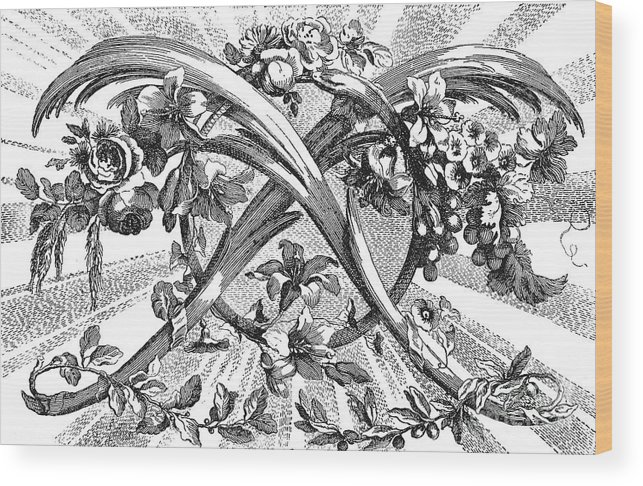 1762 Wood Print featuring the photograph Decorative Engraving by Granger