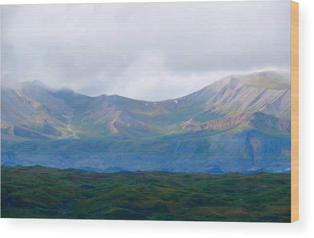Alaska Wood Print featuring the photograph Earthly Curves by Michael Anthony