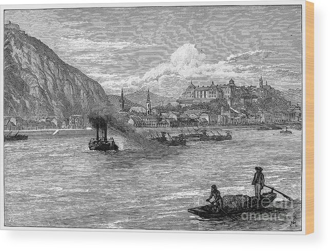 1886 Wood Print featuring the photograph Hungary: Budapest, 1886 by Granger