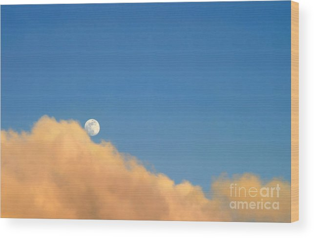 Ventura Wood Print featuring the photograph Moon At Sunset by Henrik Lehnerer