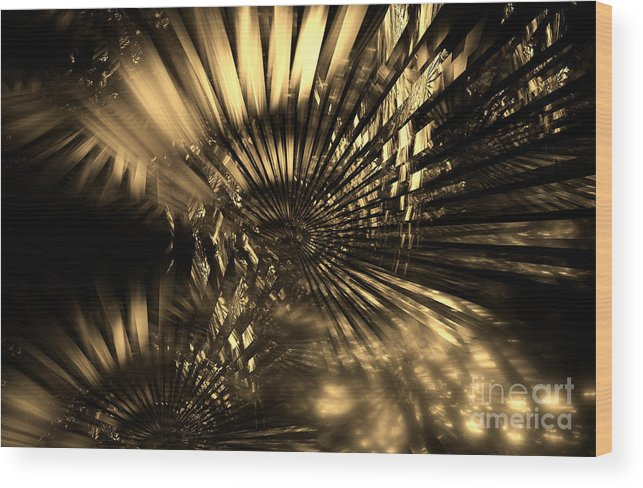 Retro Wood Print featuring the digital art Old-time Christmas by Klara Acel