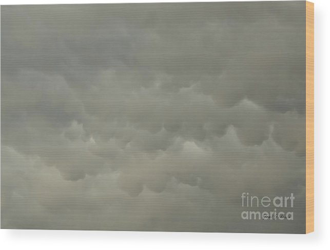 Clouds Wood Print featuring the photograph Storm Clouds by Yumi Johnson