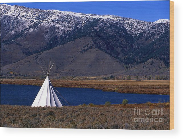 Tepee Wood Print featuring the photograph Tepee by Barry Shaffer