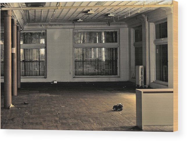 Architecture Wood Print featuring the photograph The Lone Toy by Juanita L Ruffner