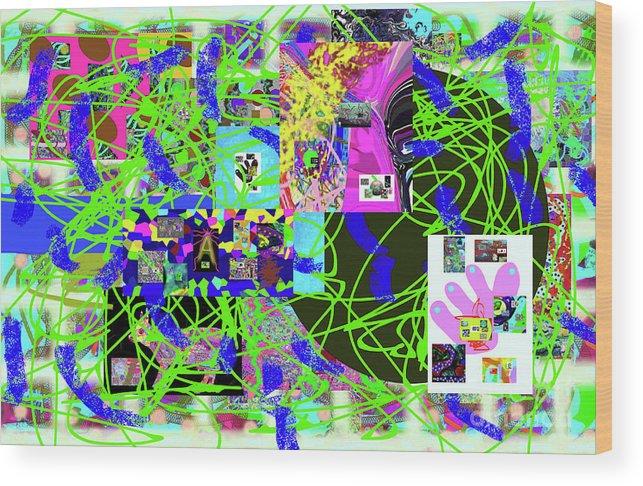 Walter Paul Bebirian Wood Print featuring the digital art 1-3-2016eabcdefghi by Walter Paul Bebirian