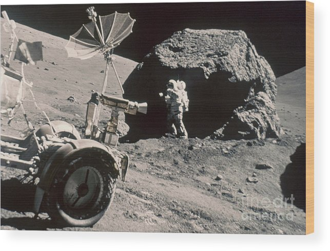 1972 Wood Print featuring the photograph Apollo 17, December 1972: by Granger
