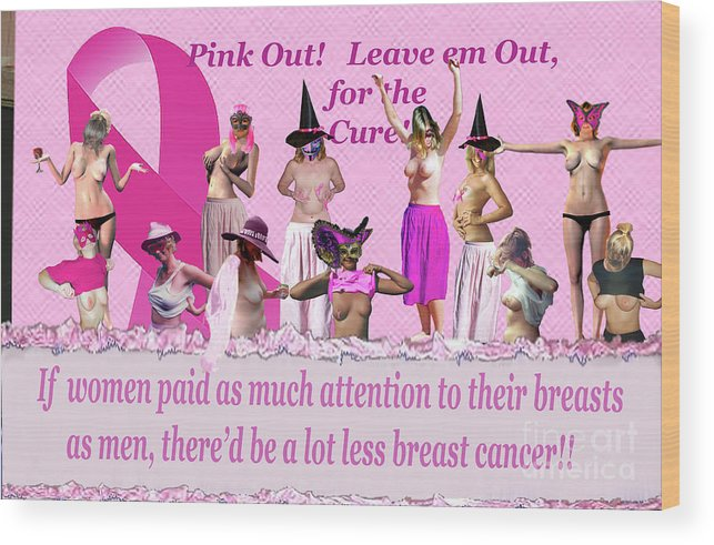 Breast Cancer Awareness Wood Print featuring the photograph Pink Out by Broken Soldier