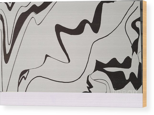 Wood Print featuring the drawing Waves by George Viegas