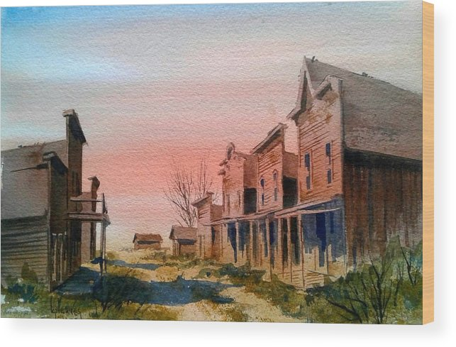 Llandscape Wood Print featuring the painting Ghost Town by Kevin Heaney
