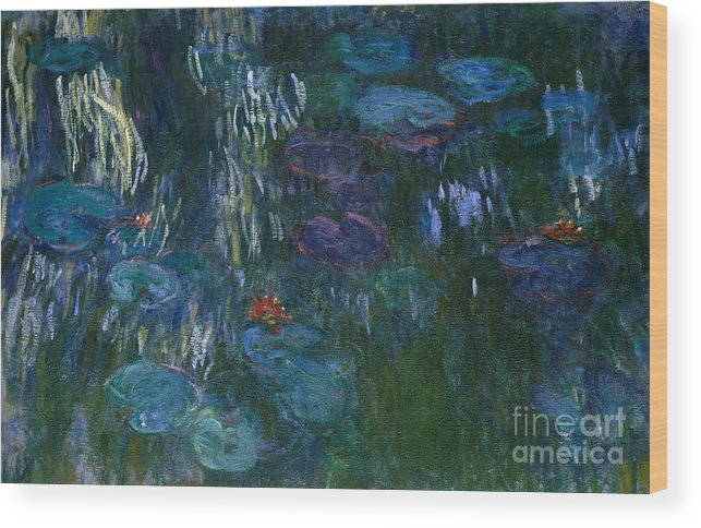 Monet Wood Print featuring the painting Water Lilies by Claude Monet