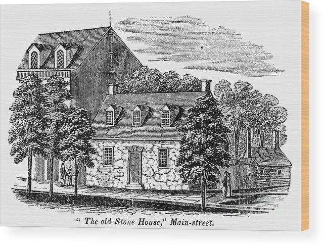 1856 Wood Print featuring the photograph Washington: Headquarters, by Granger