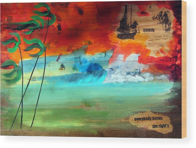 Landscape Wood Print featuring the painting Andaman Islands by Nathan Paul Gibbs