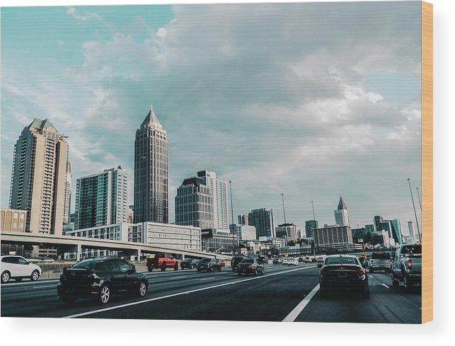 Atlanta Wood Print featuring the photograph Atlanta Georgia by Andrea Anderegg