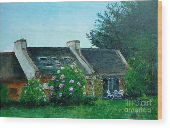 Bretagne Wood Print featuring the painting Bel-ile-en-mer by Lizzy Forrester
