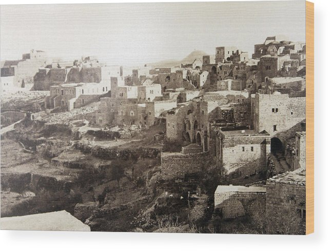 Bethlehem Wood Print featuring the photograph Bethlehem Old Main Street by Munir Alawi