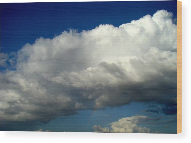 Rainbow Wood Print featuring the photograph Big Sky Little Rainbow by Ana Villaronga