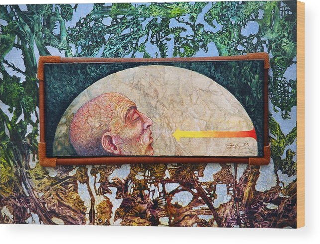Surrealism Fantasy Fantastic Realism Decalcomania Otto Rapp The Mystic Wood Print featuring the painting Bogomil Rising by Otto Rapp