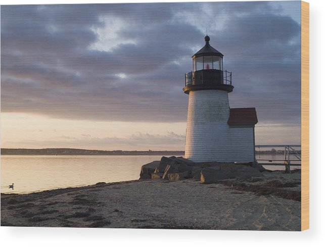 Nantucket Wood Print featuring the photograph Brant Point Light Number 1 Nantucket by Henry Krauzyk