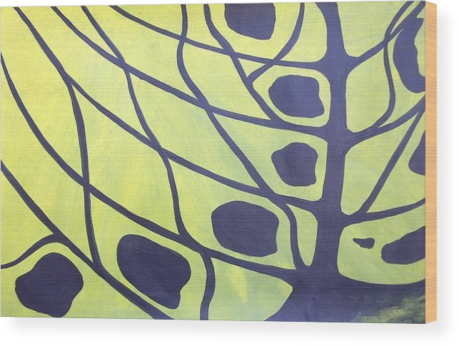 Abstract Tree Butterfly Tiger Swallowtail Landscape Wood Print featuring the painting Butterfly Tree 3 by Sally Van Driest