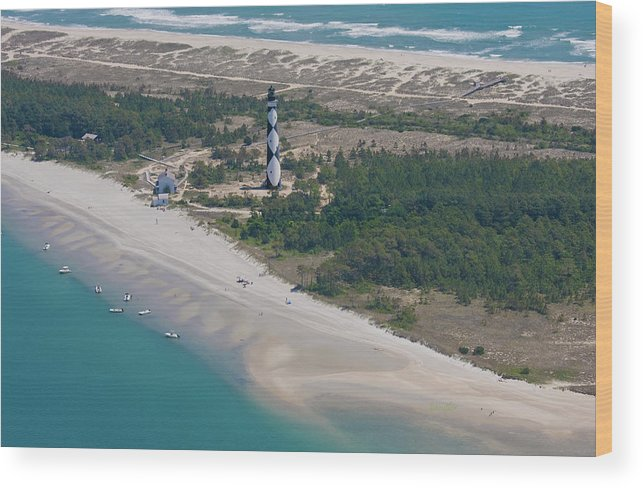 Cape Wood Print featuring the photograph Cape Lookout 6 by Betsy Knapp