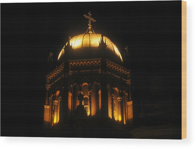 Flagler Memorial Wood Print featuring the photograph Church Lights by David Lee Thompson