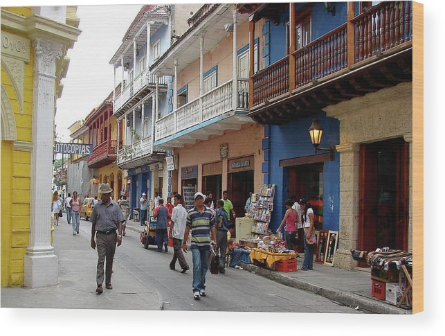 Colombia Wood Print featuring the photograph Colombia Streets by Brett Winn