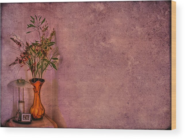 Flower Wood Print featuring the photograph Color My Senses by Evelina Kremsdorf