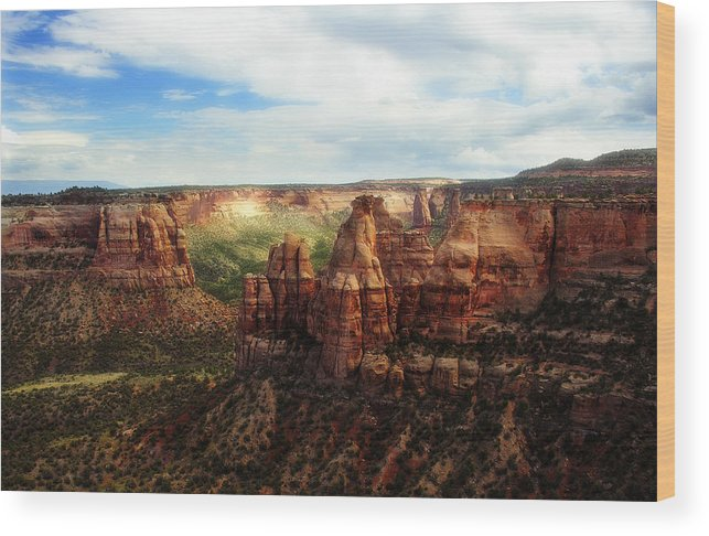 Americana Wood Print featuring the photograph Colorado National Monument by Marilyn Hunt