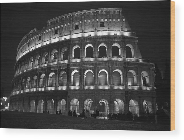 Italy Wood Print featuring the photograph Colosseum by Kathy Schumann