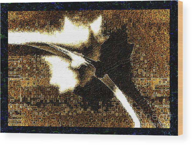 Abstract Art Wood Print featuring the mixed media Cultural Literacy For Lovers And Dreamers Number 1 by Aberjhani