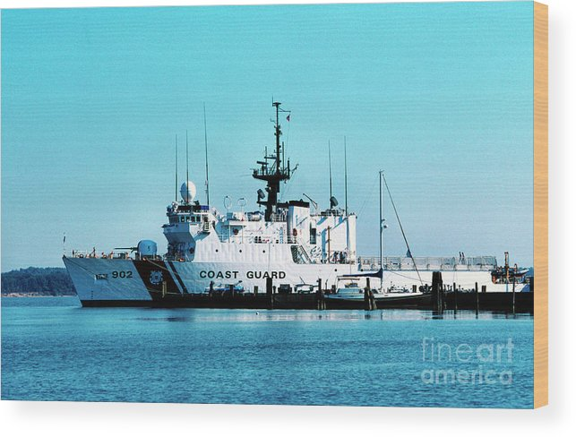 Us Coast Guard Wood Print featuring the photograph Cutter Tampa by Thomas R Fletcher
