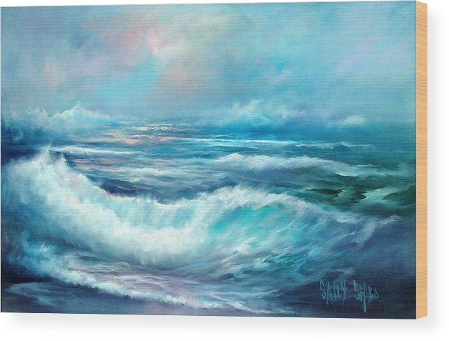 Ocean Wood Print featuring the painting Dancing Angels by Sally Seago