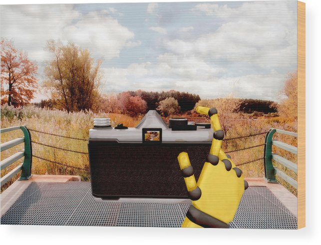 Camera Wood Print featuring the painting Digital Photographer by Peter J Sucy