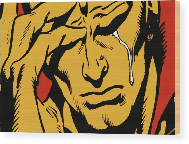 Comic Wood Print featuring the photograph Even An Android Can Cry by Brian Middleton