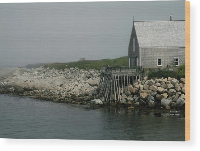 Newfoundland Wood Print featuring the photograph fogBound by Mark Alesse