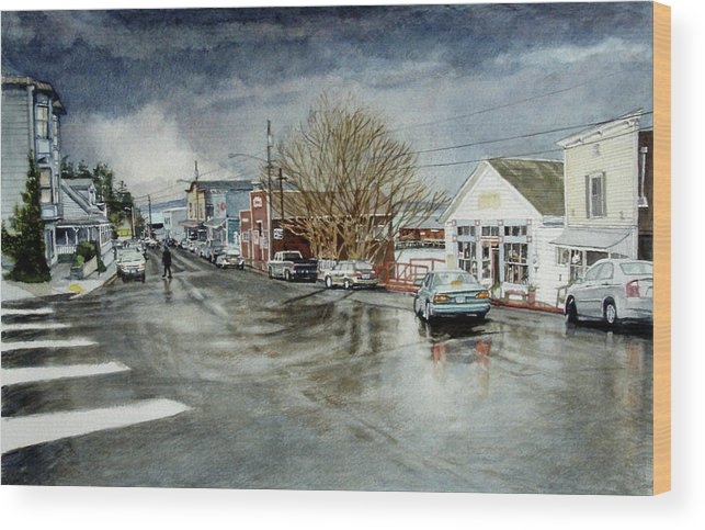 Coupeville Wood Print featuring the painting Front by Perry Woodfin