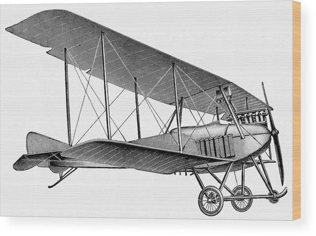 1913 Wood Print featuring the photograph German Airplane, 1913 by Granger